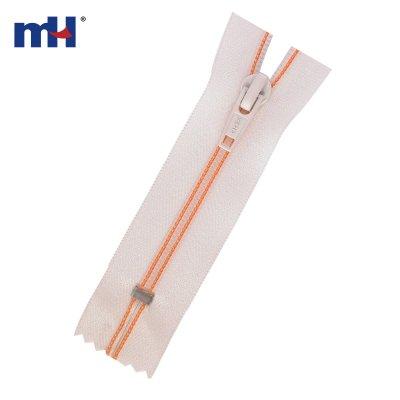 0287-9012 sewed nylon zipper