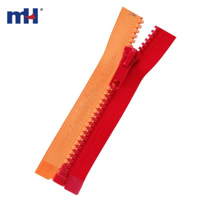 0231-20C two color plastic zipper