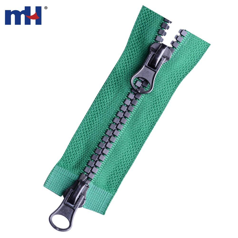 open bottom coat zipper