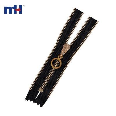 0250-3043 #5 light golden brass zipper