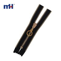0250-3043 #5 light golden brass zipper
