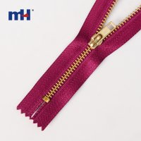 0282-0109-1 #3 aluminum zipper golden teeth