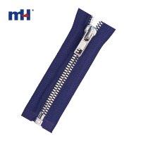 0287-92 silver brass zipper
