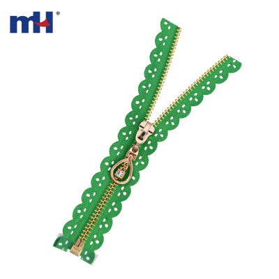 0251-4077 metal brass teeth zipper