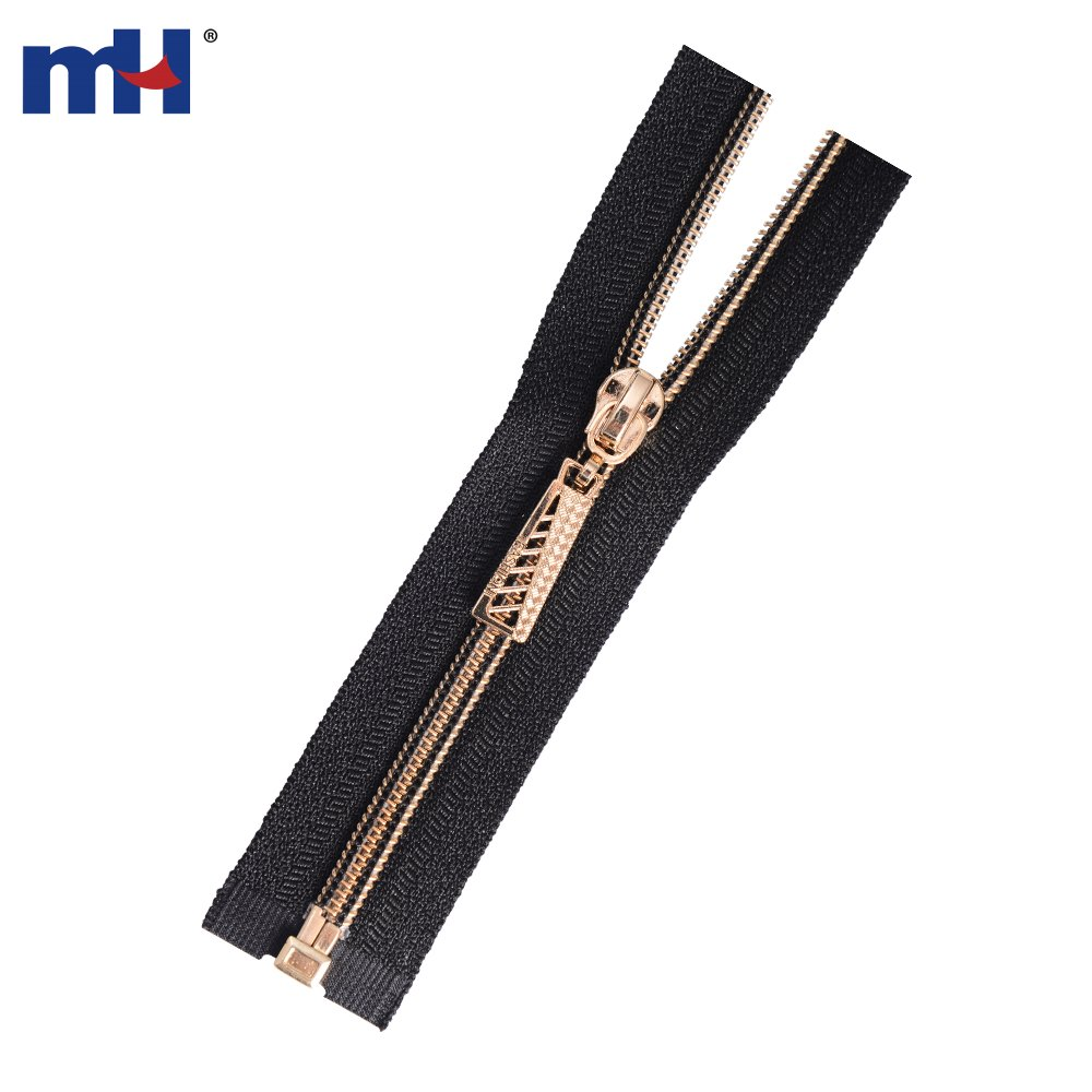 #5 Gold Plated Nylon Teeth Open End Zippers Manufacturer