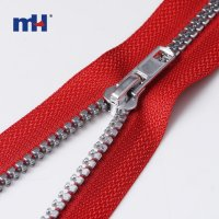 0231-2147-1 #5 open end silver teeth zipper